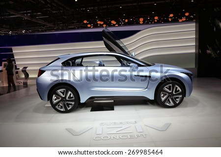GENEVA, MARCH 3: Subaru viziv concept car on display at 85th international Geneva motor Show at Palexpo-Geneva on March 3, 2015 at Geneva, Switzerland. - stock photo