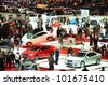 GENEVA - MARCH 12: Various makes and models of cars are on display at the 82nd International Motor Show on March 12, 2012 in Geneva, Switzerland - stock photo