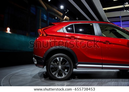 Geneva, Switzerland   March 8, 2017: 2017 Mitsubishi Eclipse Cross  Presented On The