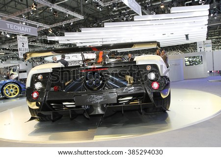Geneva, Switzerland - March 4: Visitors from all over the world visits PalExpo during 80th Geneva Motor Show to see more than 150 world and European new car models premiers on March 4, 2010 in Geneva - stock photo