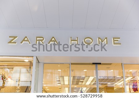 GENEVA, SWITZERLAND - NOVEMBER 30, 2016: A ZARA HOME outlet. Zara is owned by Inditex,  which has 7000 stores in 91 markets.