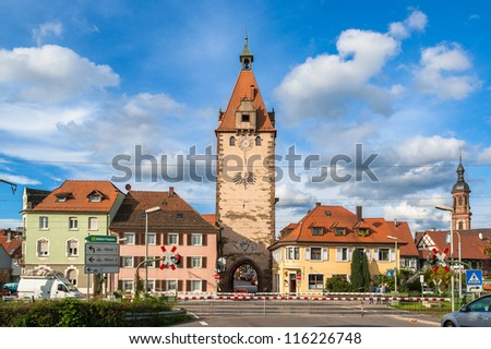 Gengenbach town in Baden-Wurttemberg, Germany - stock photo