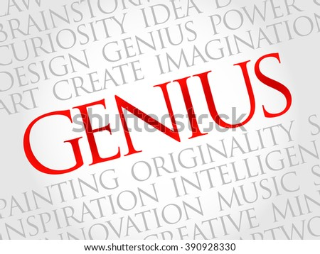 Genius word cloud, business concept - stock photo