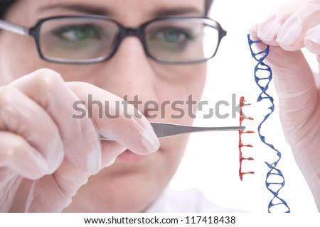 Genmanipulation - stock photo