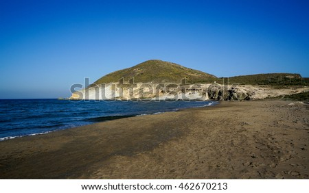 Genoese Beach in Cabo de Gata-Nijar Natural Park, Spain
