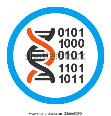 Genome Code glyph icon. Style is flat rounded symbol, bright colors, rounded angles, white background.