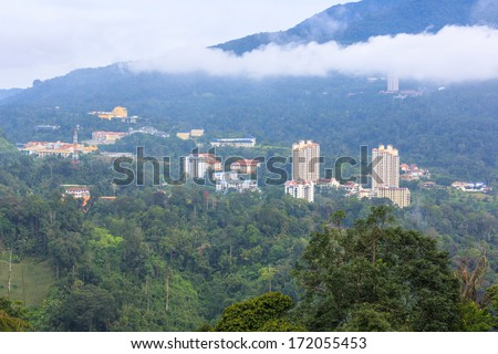 GENTING HIGHLANDS, MALAYSIA - DECEMBER 22 : Landscape of Genting Highlands on Dec 22,13 in Malaysia. It is a hill resort in Malaysia developed by Genting Group.