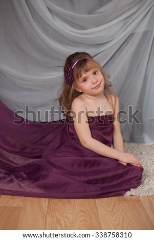 gentle nice girl  - stock photo