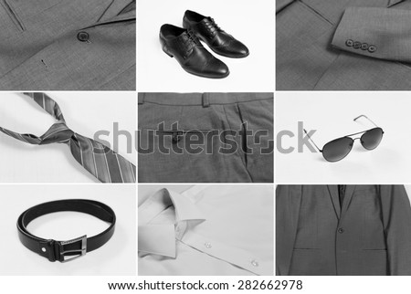 Gentlemen's Fashion and Accessories  - stock photo