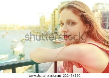 Genuine girl  - stock photo