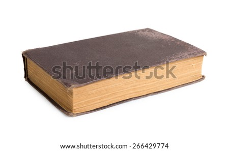 Genuinely antique book - stock photo
