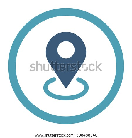 distance icon illustration isolated vector sign stock