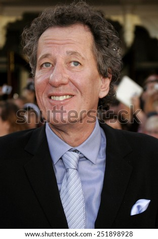 "Geoffrey Rush attends the World Premiere of ""Pirates of the Caribbean: At World's End"" held at Disneyland in Anaheim, California on May 19, 2007."