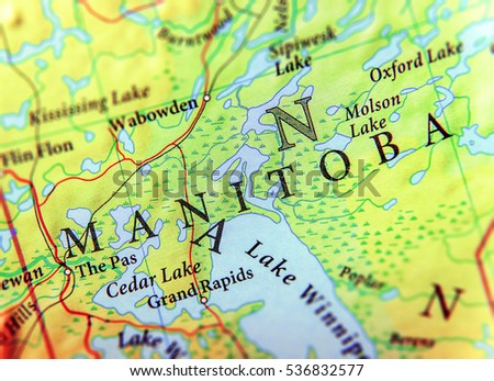 Manitoba Stock Images RoyaltyFree Images Vectors Shutterstock - Map of manitoba canada cities