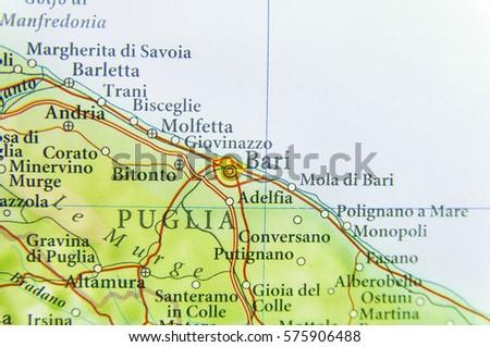 Map Of Bari Stock Images RoyaltyFree Images Vectors Shutterstock - Bari map