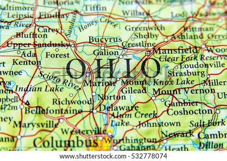 Ohio Map Stock Images RoyaltyFree Images Vectors Shutterstock - Map of ohio cities