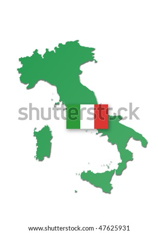 geographical map of italy