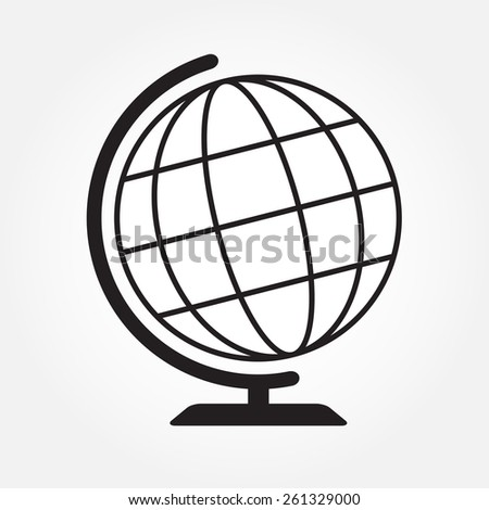 Geography earth globe icon or sign.  - stock photo