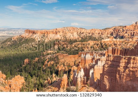 Geological formations in Bryce canyon national park in Utah  - USA