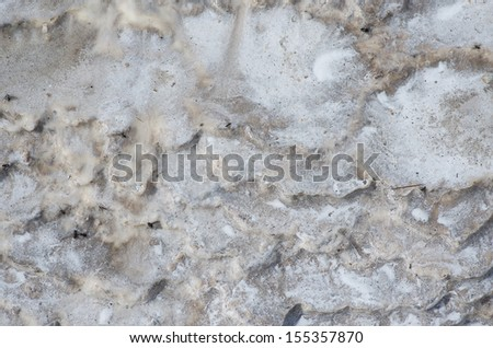 Geological Organic Texture with sulphur and sinther, ground of geothermal active area. - stock photo