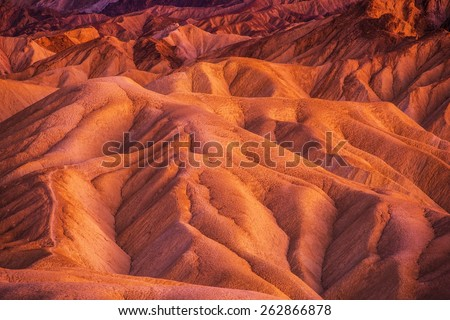 Geology of Death Valley National Park in California, United States. Death Valley Formations. - stock photo