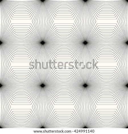 Geometric abstract pattern.Seamless monochrome texture. - stock photo