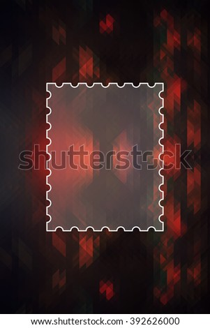 Geometric abstract texture for background with message box - stock photo