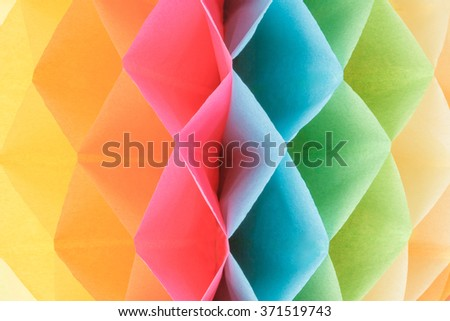 Geometric colorful rhombus paper pattern