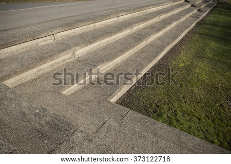 Geometric concrete stairs - stock photo