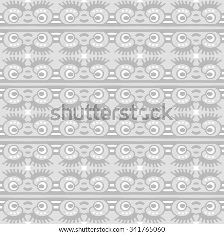 Geometric ethnic pattern design for background or wallpaper. - stock photo
