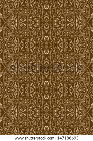 geometric floral seamless pattern with many details.