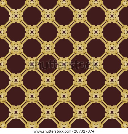 Geometric golden pattern. Seamless  background. Abstract texture for wallpapers. Repeating geometric elements