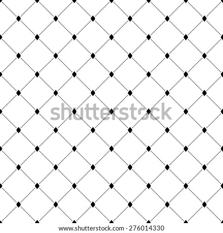 Geometric modern  seamless pattern. Abstract texture with dotted elements. Black and white colors
