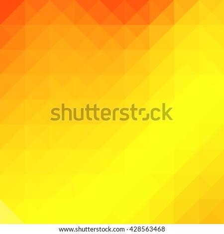 Geometric orange yellow background with triangular polygons. - stock photo
