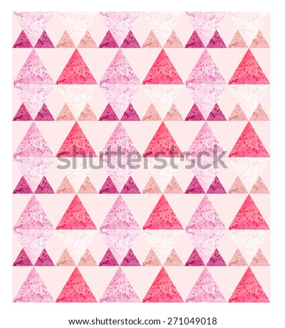 geometric pattern background. triangles pink pattern background for greeting card. - stock photo