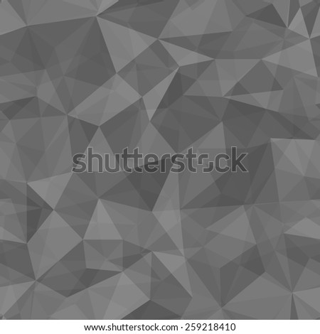 Geometric  pattern  from triangles. Black illustration. - stock photo