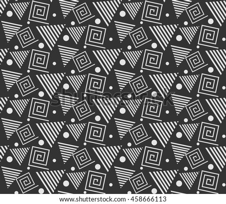 Geometric Pattern Modern Image. Template. Gray. Background texture.