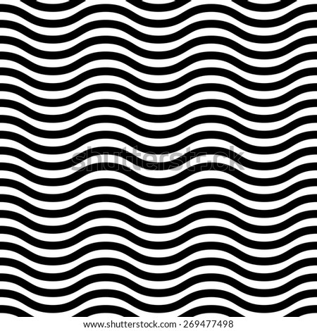 Geometric pattern. Seamless  background. Abstract texture for wallpapers. Black and white colors - stock photo