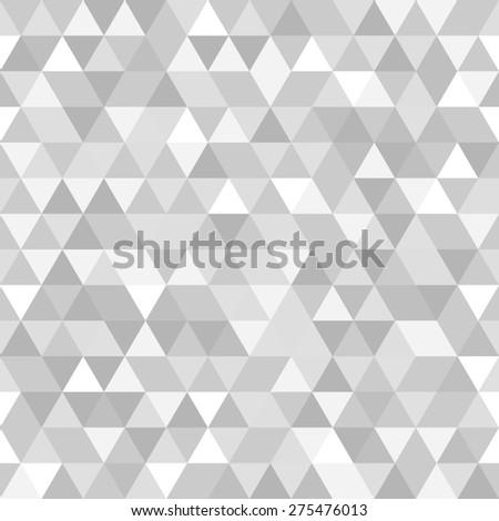 Geometric Pattern Grey White Triangles Seamless Stock Illustration