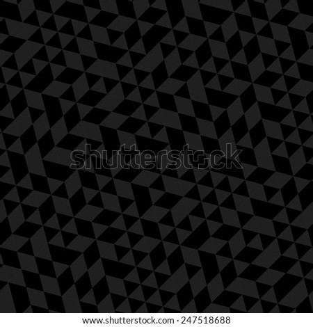 Geometric  pattern with triangular black and gray triangles. Seamless abstract ornament for wallpapers and backgrounds
