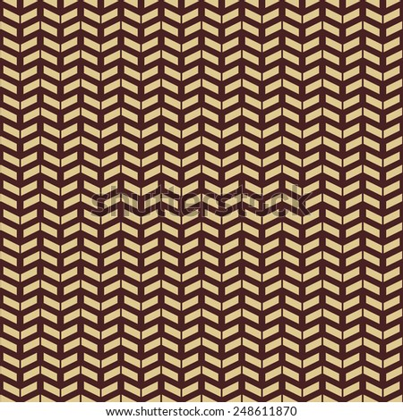 Geometric  pattern with triangular golden elements. Seamless abstract ornament for wallpapers and backgrounds