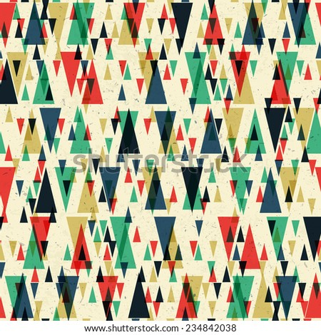Geometric retro seamless pattern. Raster version - stock photo