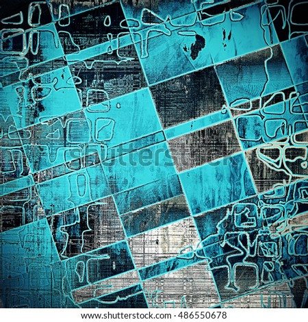 Geometric retro style texture for your layouts. Grunge background with different color patterns: yellow (beige); gray; blue; black; cyan