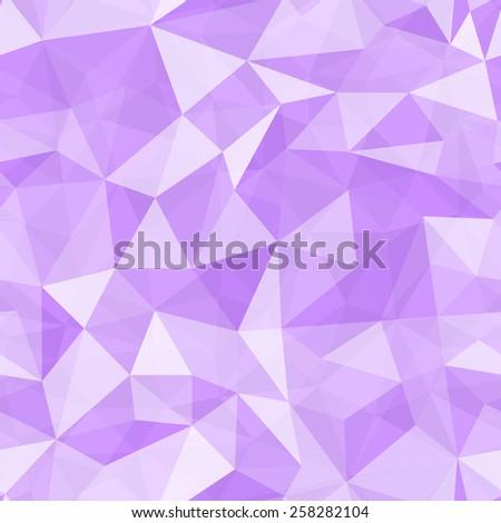 Geometric seamless pattern  from triangles. Purple illustration. - stock photo