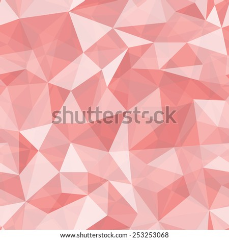 Geometric seamless pattern  from triangles. Red illustration. - stock photo