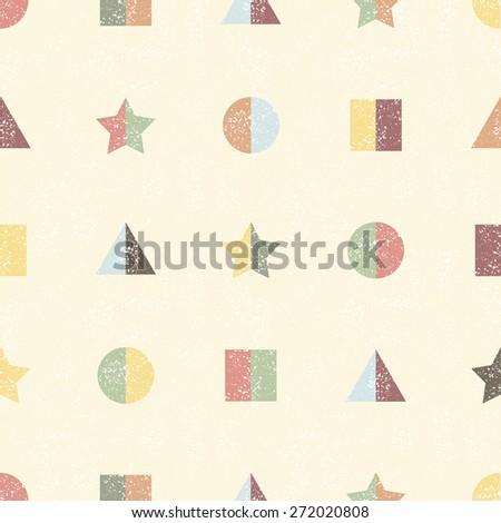 Geometric seamless pattern. Raster version - stock photo