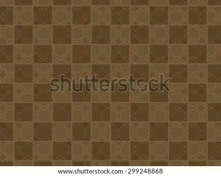 geometric shapes of circle and square, abstract pattern background - stock photo