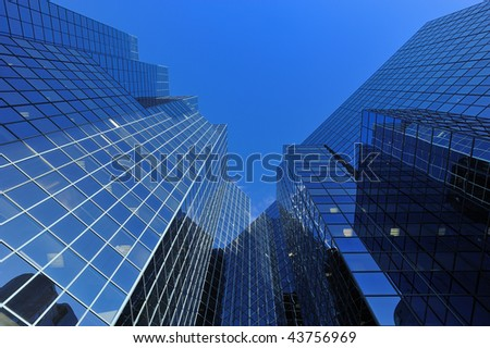 Geometric shapes of city skyscrapes