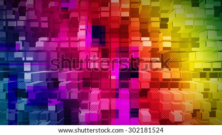 Geometric suprematism pattern. Abstract art - stock photo
