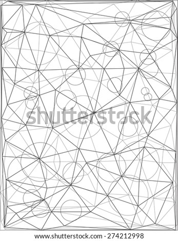 Geometric transparent background.  Black and white triangular texture